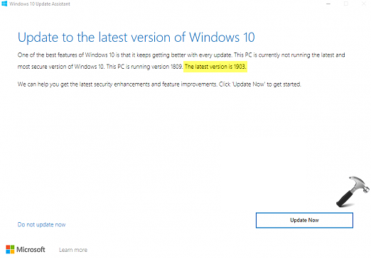 Microsoft Released Windows 10 V1903