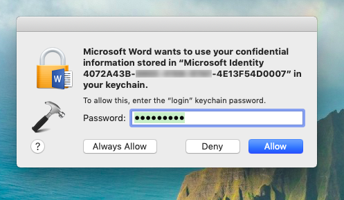 FIX Microsoft Wants To Use Your Confidential Information In Mac