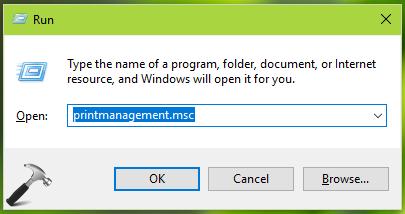 Windows 10 Printer Management