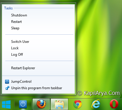 Power Button Taskbar 1