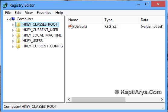 regedit.exe  windows 7 64 bit