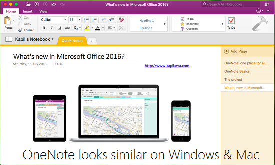 REVIEW What Is New In Microsoft Office 2016 For Mac