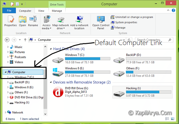 how to create system restore point in windows 8.1