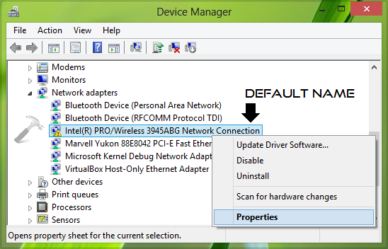 Rename Devices In Device Manager Using Registry on Windows 10 Wireless Connection