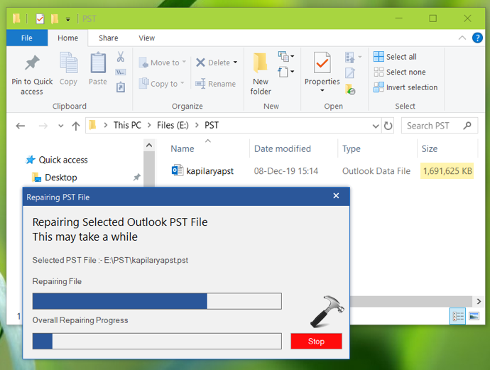 How To Repair And Recover Data From Large PST Files In Outlook