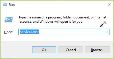 Services Windows 10