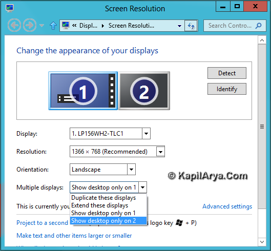 Second Screen Display In Windows 8 3
