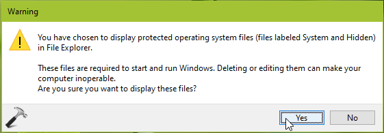 How To Show Hide Protected Operating System Files In Windows