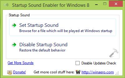 Startup Sound Enabler Running On Windows 8.1