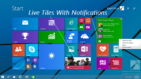 [TIP] Clear Live Tiles Notifications At Sign Out In Windows 10