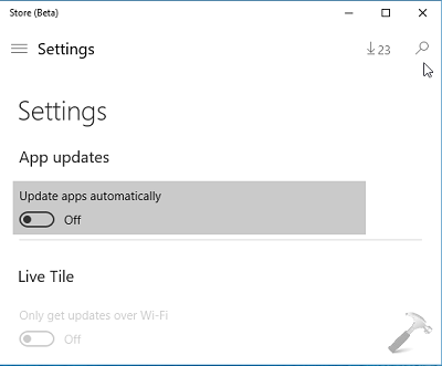 How To Disable Automatic Updates For Store Apps In Windows 10