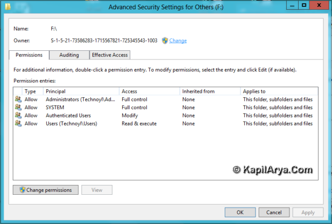 How To] Take Ownership For File, Folder, Drive, Registry Key In