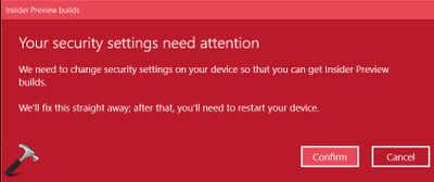 There Is A Problem With Getting Preview Builds In Windows 10