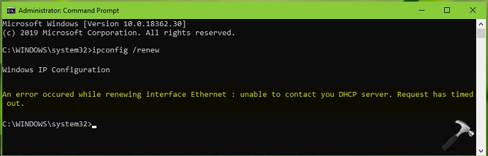FIX Unable To Contact Your DHCP Server, Request Has Timed Out