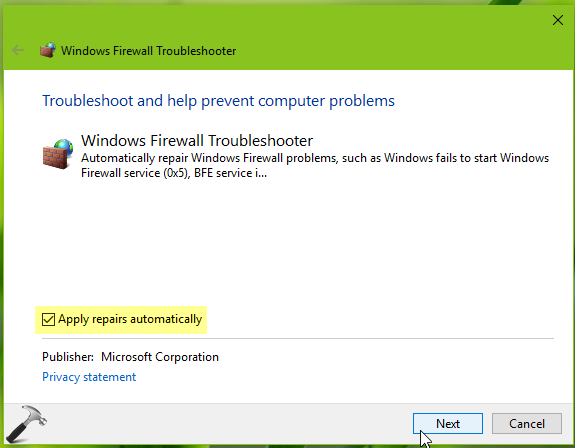 How To Fix Windows 7 Firewall Problem Diagnose and Fix