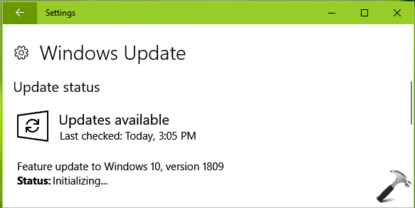 Windows 10 V1809 (October 2018 Update) Available Now
