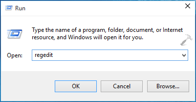 Windows 10 Registry Editor