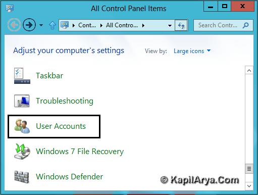 make password reset disk windows 8