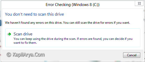 Windows 8 Scan Repair Drives 1