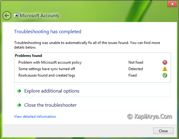 Microsoft Account  amp  Windows Store Apps Troubleshooters For Windows 8 1