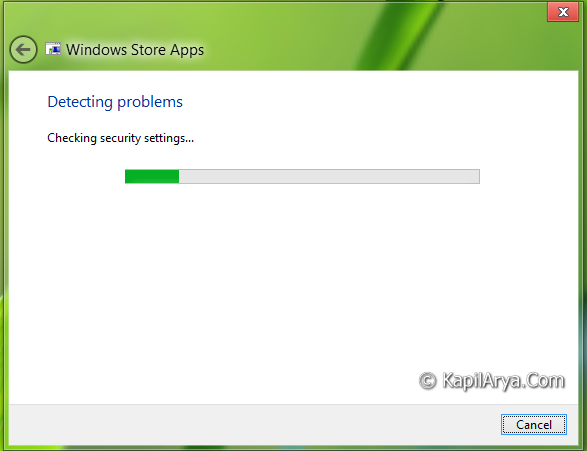 Windows Store Apps Troubleshooter For Windows 8.1/8