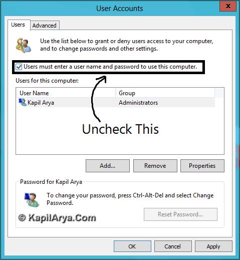 how to set windows 10 to auto login