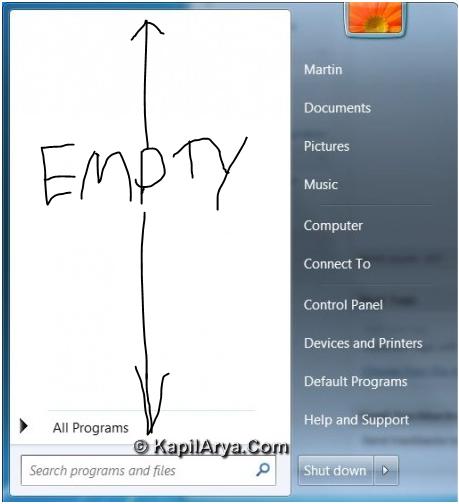 FIX] Start Menu Items Disappeared In Windows 7